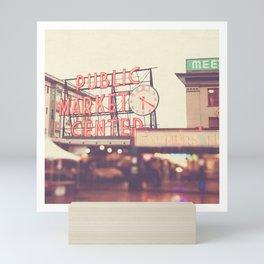 Seattle Pike Place Public Market photograph, 620 Mini Art Print