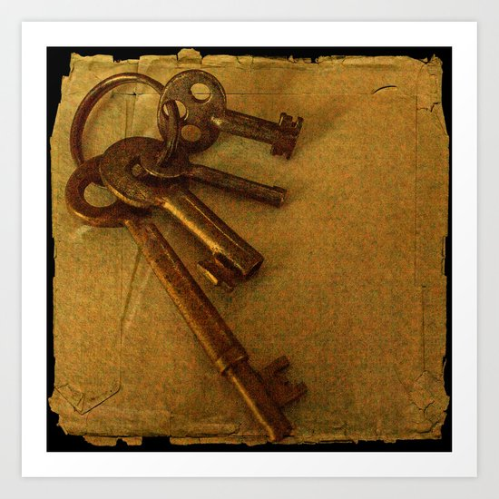 Old keys Art Print