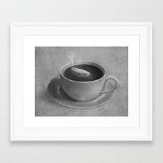 Whale in a tea cup  Framed Art Print