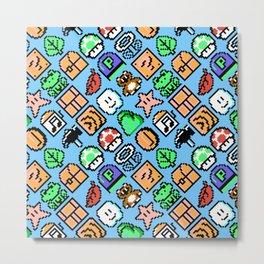 Super Mar!o Bros. 3 | blue sky || retrogaming nostalgia pattern Metal Print