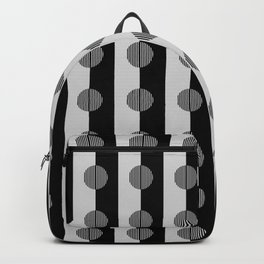 Horizons - Geometric Stripes & Circles - B&W Backpack