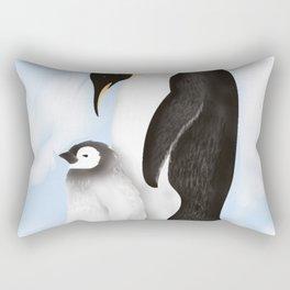Penguin Family Rectangular Pillow