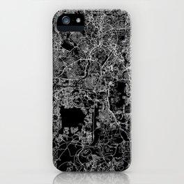 Kuala Lumpur Black Map iPhone Case
