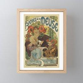 Alfons Mucha art nouveau beer ad Framed Mini Art Print