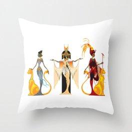 The Divas of Egypt Throw Pillow