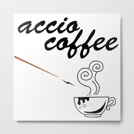ACCIO COFFEE Metal Print
