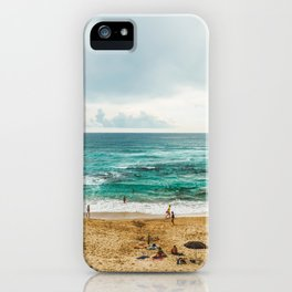 People Having Fun On Beach, Algarve Lagos Portugal, Tourists In Summer Vacation, Wall Art Poster iPhone Case
