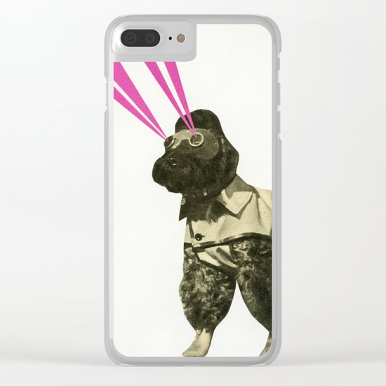 Space Dog Clear iPhone Case
