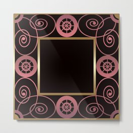 Black and pink frame . Metal Print