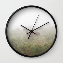 Lost in Fog Wall Clock