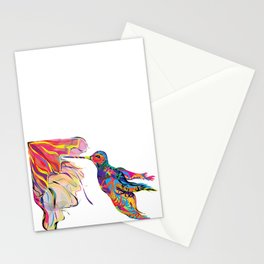 """Humhumbird"" Paulette Lust's whimsical, colorful, contemporary, original, fun, art.  Stationery Cards"