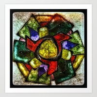 stained glass tangle Art Print
