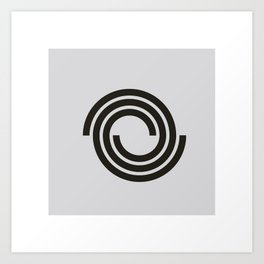 #49 Spirals in love – Geometry Daily Art Print