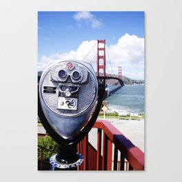 Golden Gate from a viewfinder Canvas Print