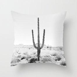 Cactus BW Throw Pillow