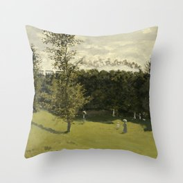 Train in the Countryside Throw Pillow