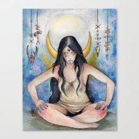 pagan Canvas Prints featuring Pagan Soul by Aline Boni