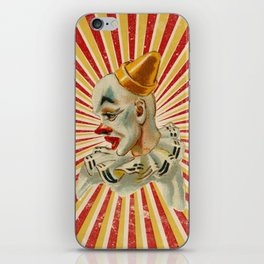Scary vintage circus clown iPhone Skin