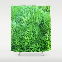 Dianthus Green Trick Shower Curtain