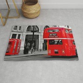 London Bus & Telephone Boxes. Rug