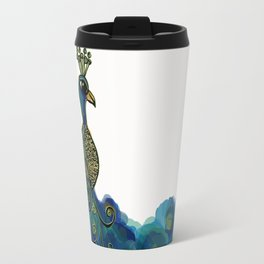 Painted peacock Travel Mug
