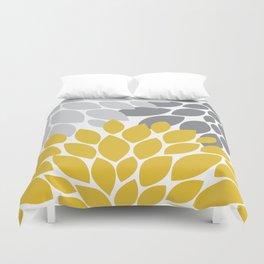 petals grey and yellow Duvet Cover