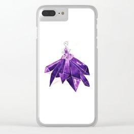 Lady Amethyst Clear iPhone Case
