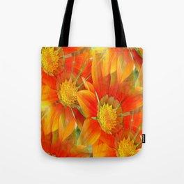 Seamless Vibrant Yellow Gazania Flower Tote Bag
