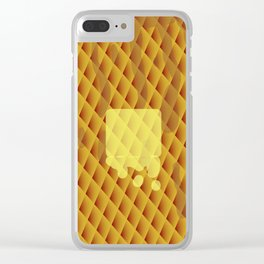 Did Someone Order Waffles? Clear iPhone Case