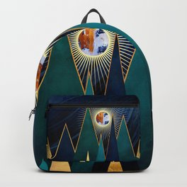 Metallic Peaks Backpack