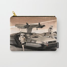 2 Stormtrooopers in a Hover DeLorean  Carry-All Pouch