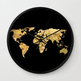 The World is Golden Wall Clock