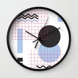 Kreise und Raster Wall Clock