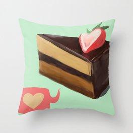 Peanut Butter Pie Throw Pillow