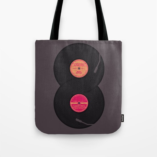 infinity vinyl records Tote Bag