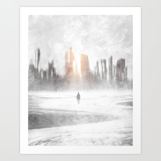 Grey hope Art Print