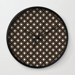 LunaSol organic pattern brown 001 Wall Clock