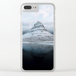 Kirkjufell Mountain in Iceland - Landscape Photography Clear iPhone Case
