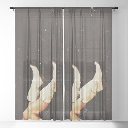 These Boots - Space Sheer Curtain