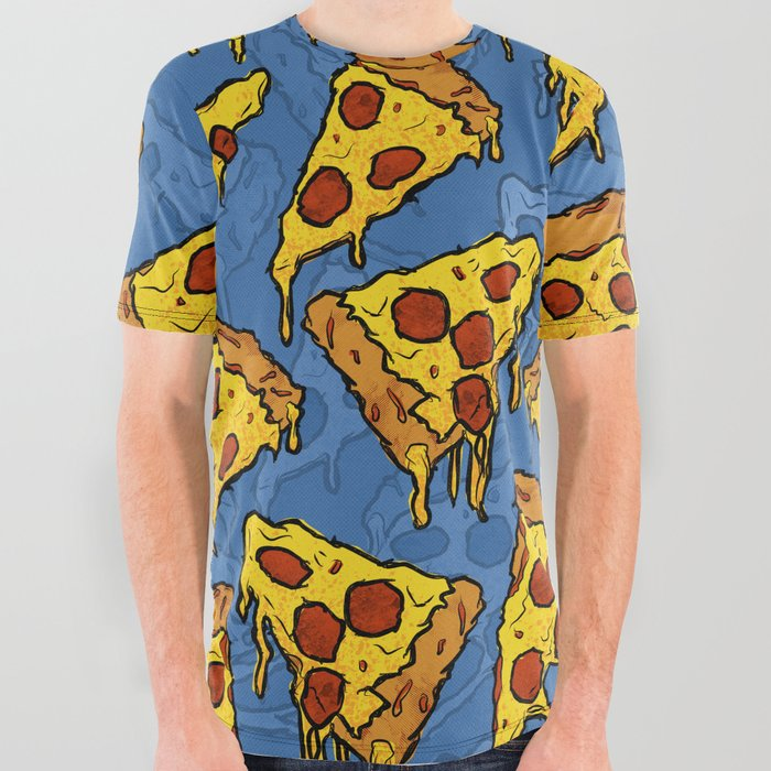 Gooey Pizza Slices All Over Graphic Tee