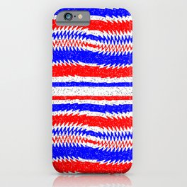 Red White Blue Waving Lines iPhone Case