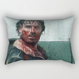 Don't Mess WIth Rick Grimes - The Walking Dead Rectangular Pillow