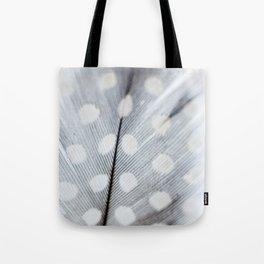 Polka Dot Feather Tote Bag