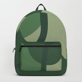 Green Abstract Modern Art Backpack