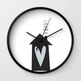 Home, Love, Illustration, Heart,  Wall Clock