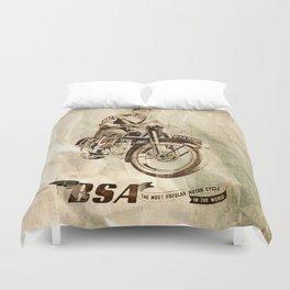 BSA - Vintage Poster Duvet Cover