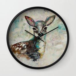 New beginnings - Fawn Wall Clock