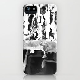 Dripping Tease in White and Black iPhone Case