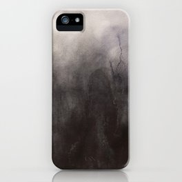 Abstract watercolor #19 - Dark dreams - Abstract watercolour painting iPhone Case