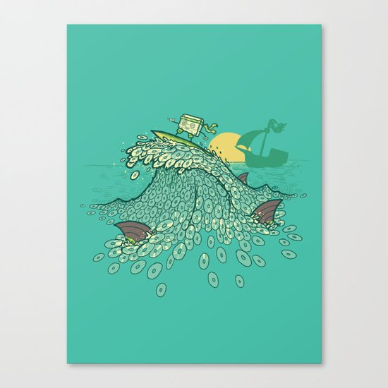 Surfin' Soundwaves Canvas Print